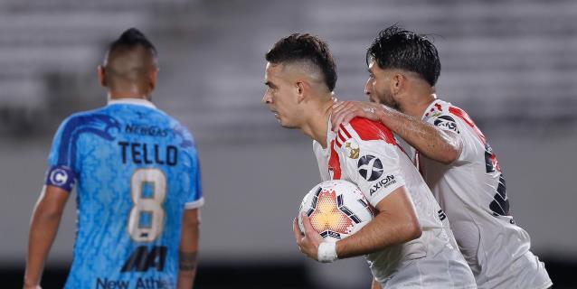 8-0. River Plate vapuleó a Binacional pese a desperdiciar dos penaltis
