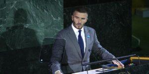 Beckham se une a la subasta digital contra el hambre debido al nuevo coronavirus