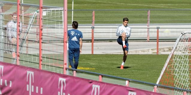 Coutinho vuelve a entrenar en solitario en el Bayern