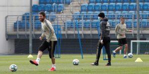 Jovic y Mariano, únicas ausencias en el entrenamiento del Real Madrid