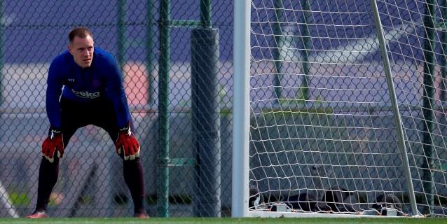 Los porteros del Barça vuelven a trabajar en grupo