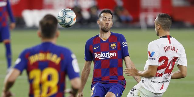 0-0. El Barcelona pincha en el Sánchez Pizjuán y pone en peligro su liderato
