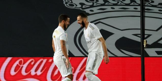 3-0. La conexión Hazard-Benzema mantienen el pulso