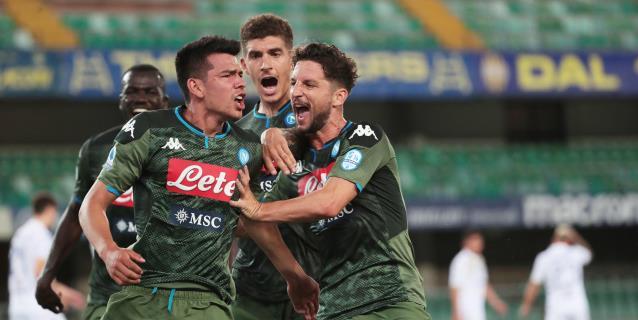 Lozano sentencia el triunfo del Nápoles en Verona (0-2)