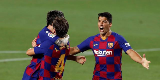 1-0. Rakitic mantiene con vida al Barça en LaLiga