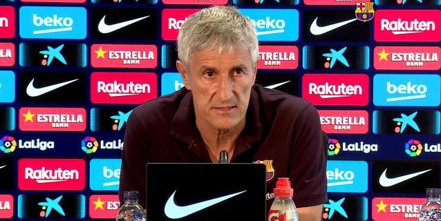"""Setién: """"Es una pena que tengamos que jugar sin público contra el Nápoles"""""""