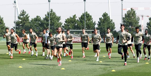El Real Madrid se centra en el trabajo táctico en defensa y ataque
