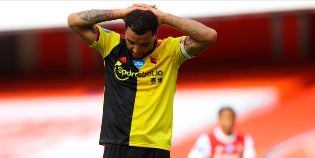 El Watford desciende al caer con el Arsenal