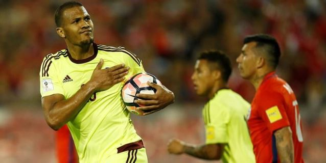Rondón lamenta estar lejos de su selección por razones ajenas a su voluntad